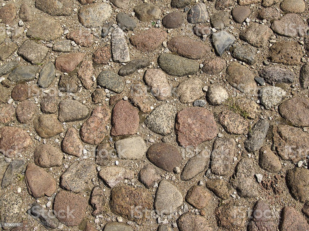 Street with stone royalty-free stock photo