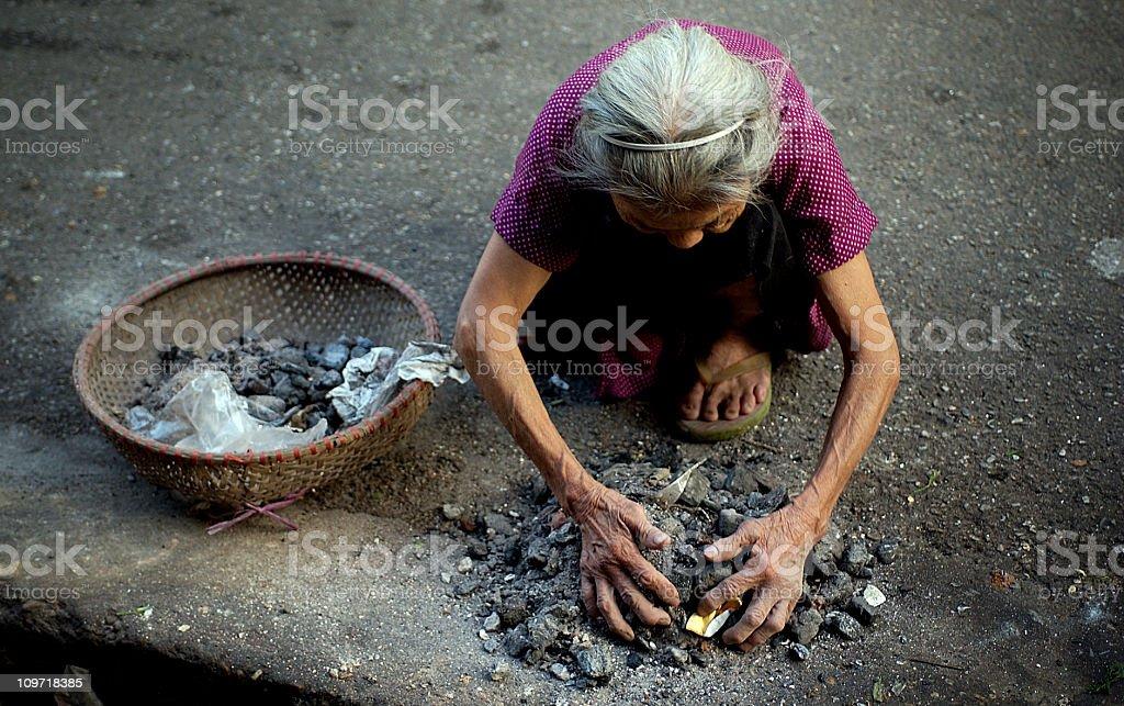 Street woman, Hanoi 2 royalty-free stock photo