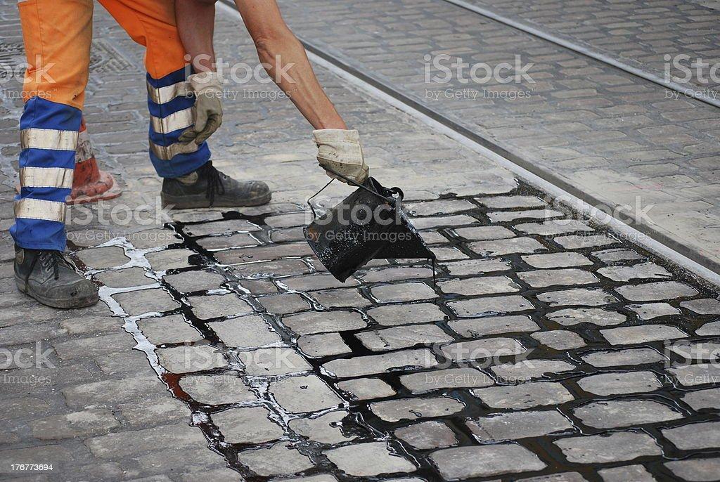 street work royalty-free stock photo