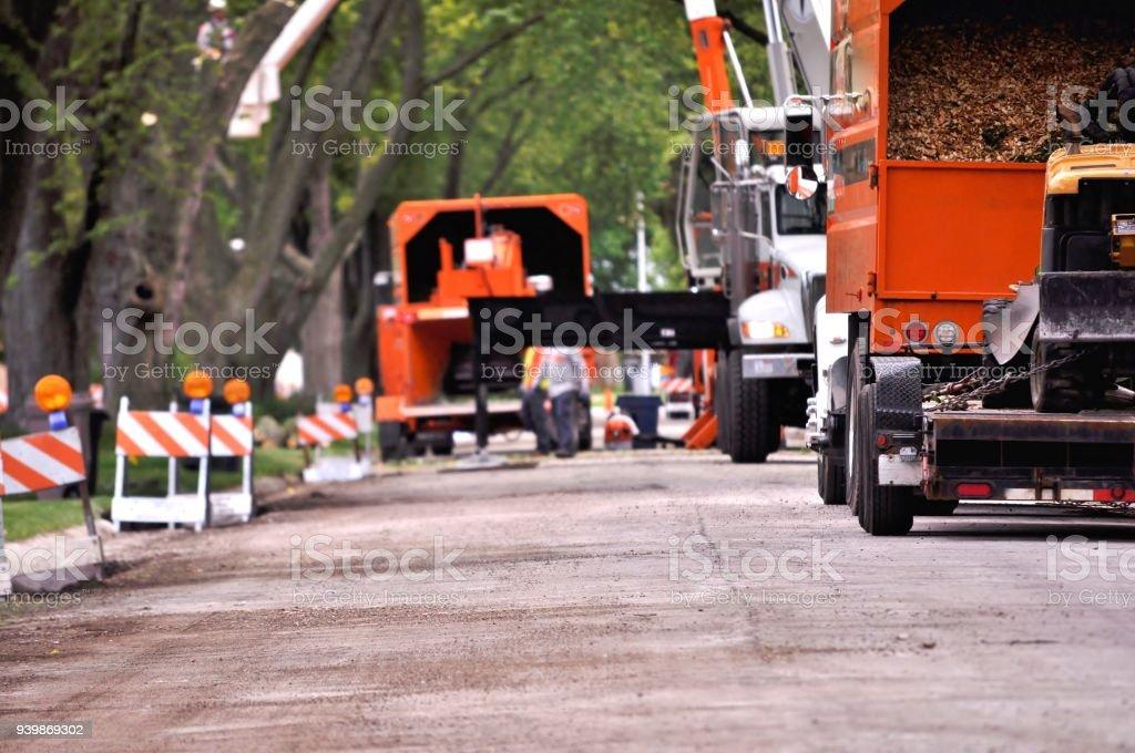 Street works. stock photo