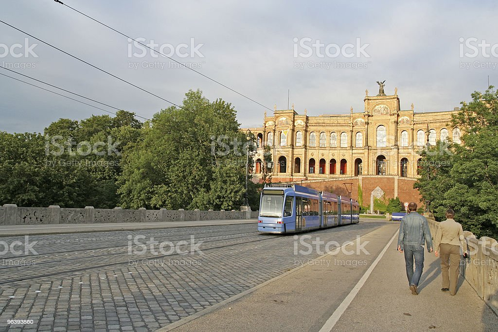 Streetcar in Munich stock photo