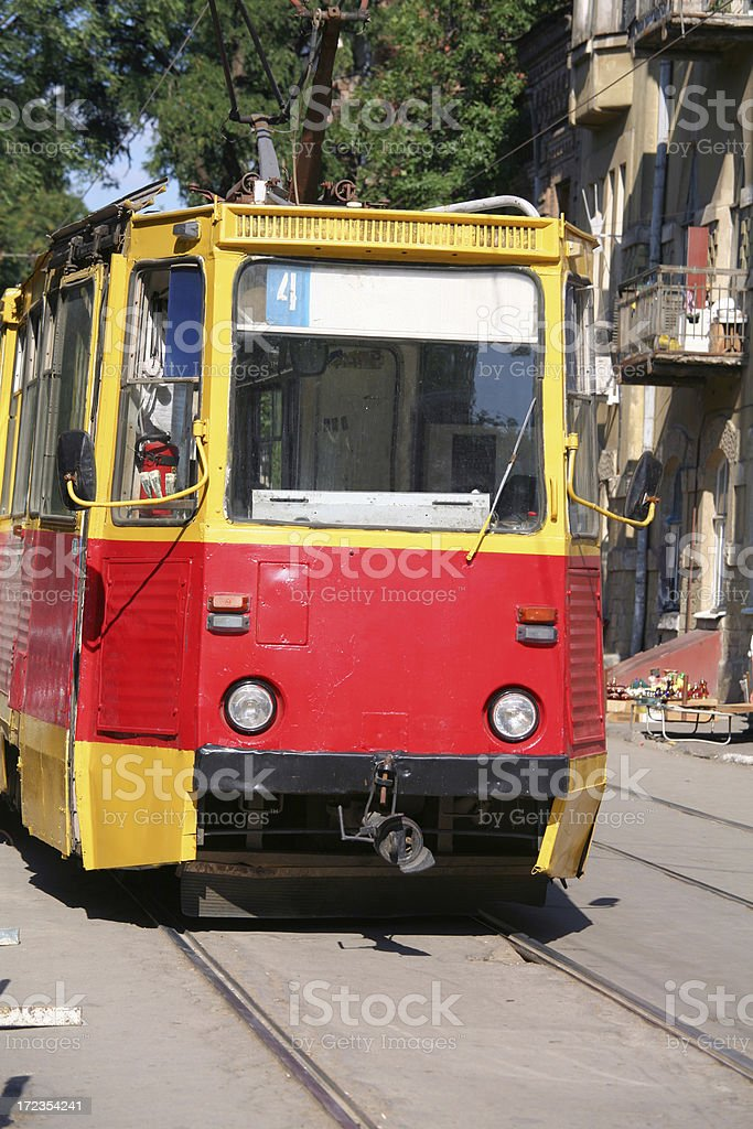Streetcar in Rostov, Russian Federation royalty-free stock photo