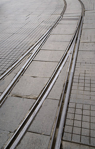 streetcar line - adomer stok fotoğraflar ve resimler