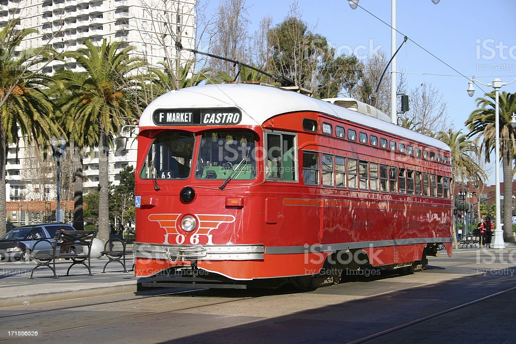 Streetcar royalty-free stock photo