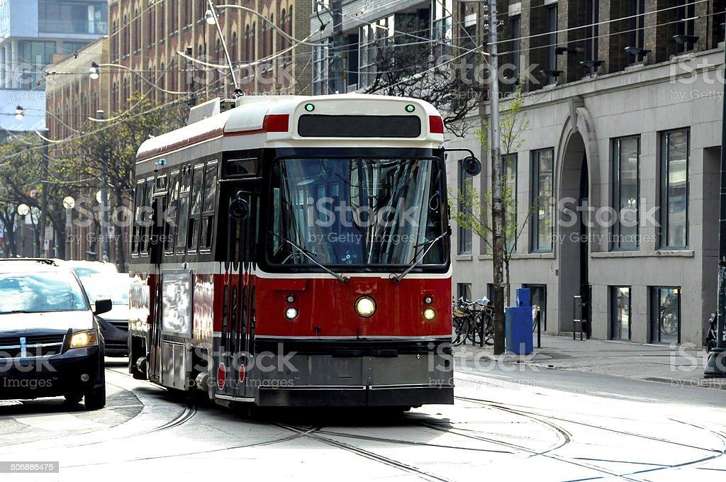 streetcar transit stock photo