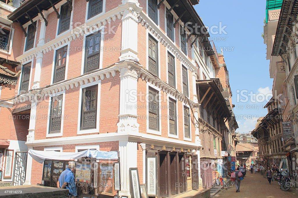 Street-Inacho area-Bhaktapur-Nepal.0211 royalty-free stock photo