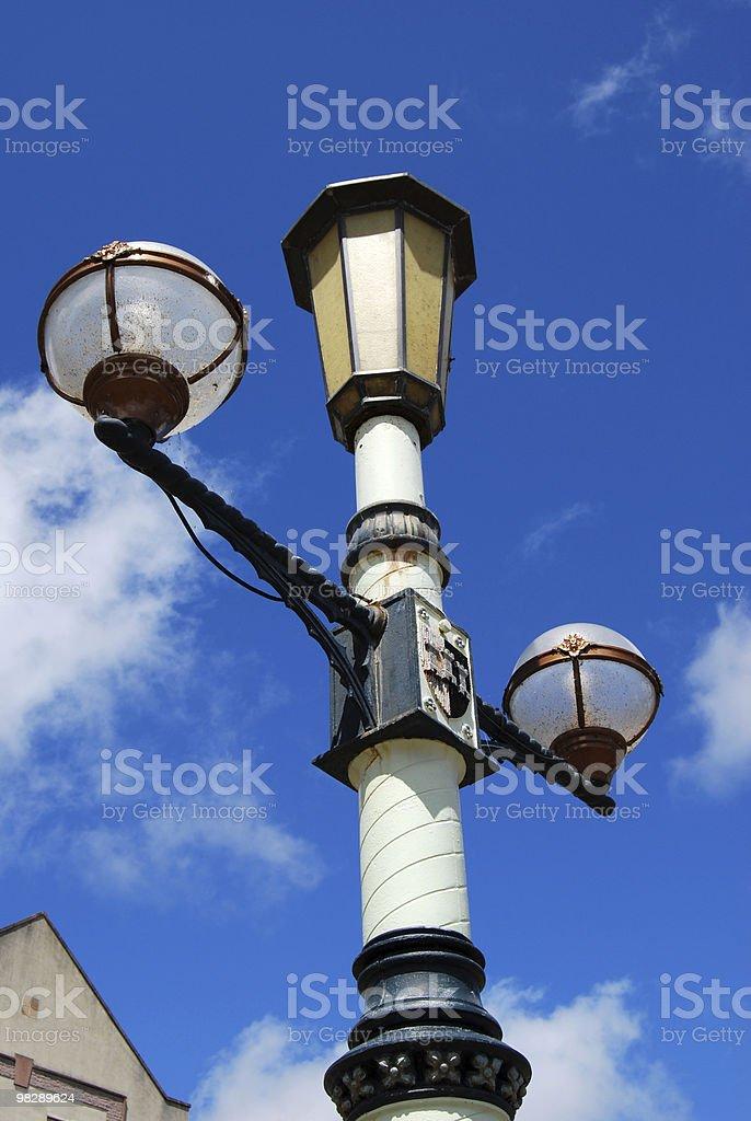 Streetlamp. Exeter Quay. Devon. England royalty-free stock photo