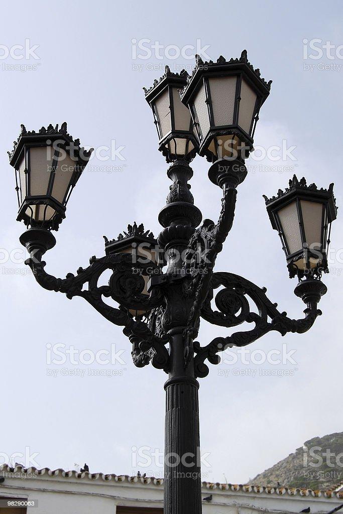 Streetlamp in Mijas, Andalusia, Spain royalty-free stock photo