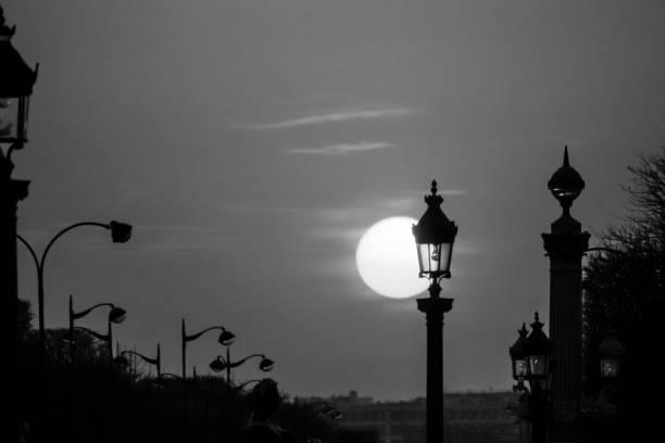 Streetlight in Paris stock photo