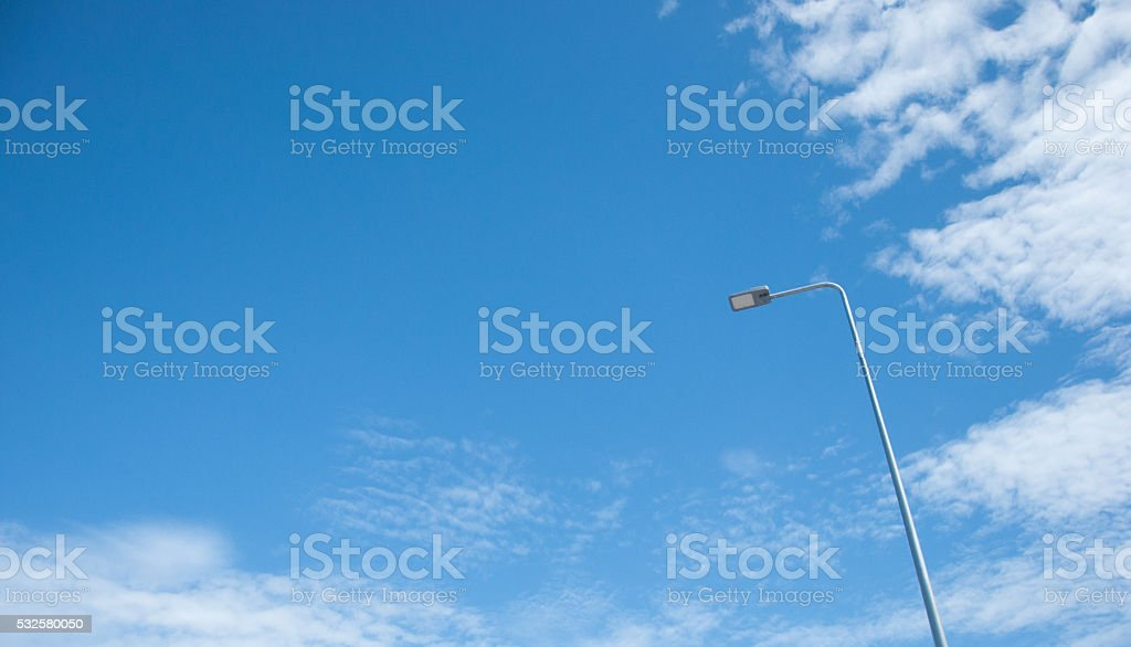 Streetlight with blue sky stock photo