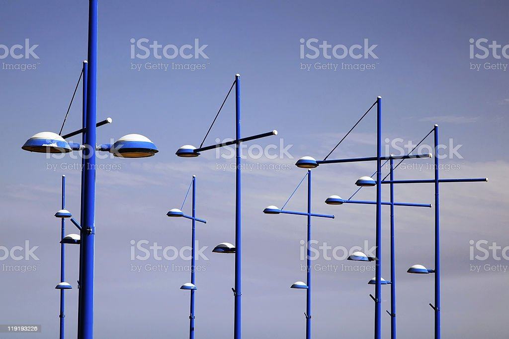 Streetlights background. royalty-free stock photo