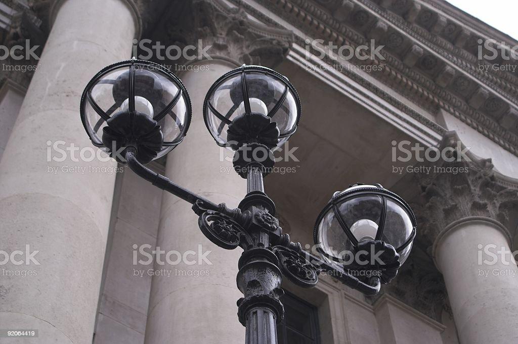 Streetlights Dublin royalty-free stock photo