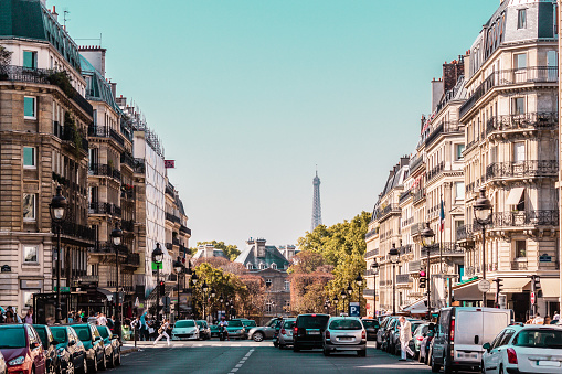 Streets and Buildings of Paris, France