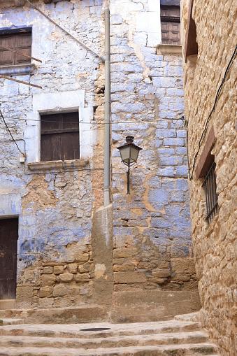 Streets and corners of the medieval village of Valderrobres, Mantarraya, Teruel province, Aragon, Spain