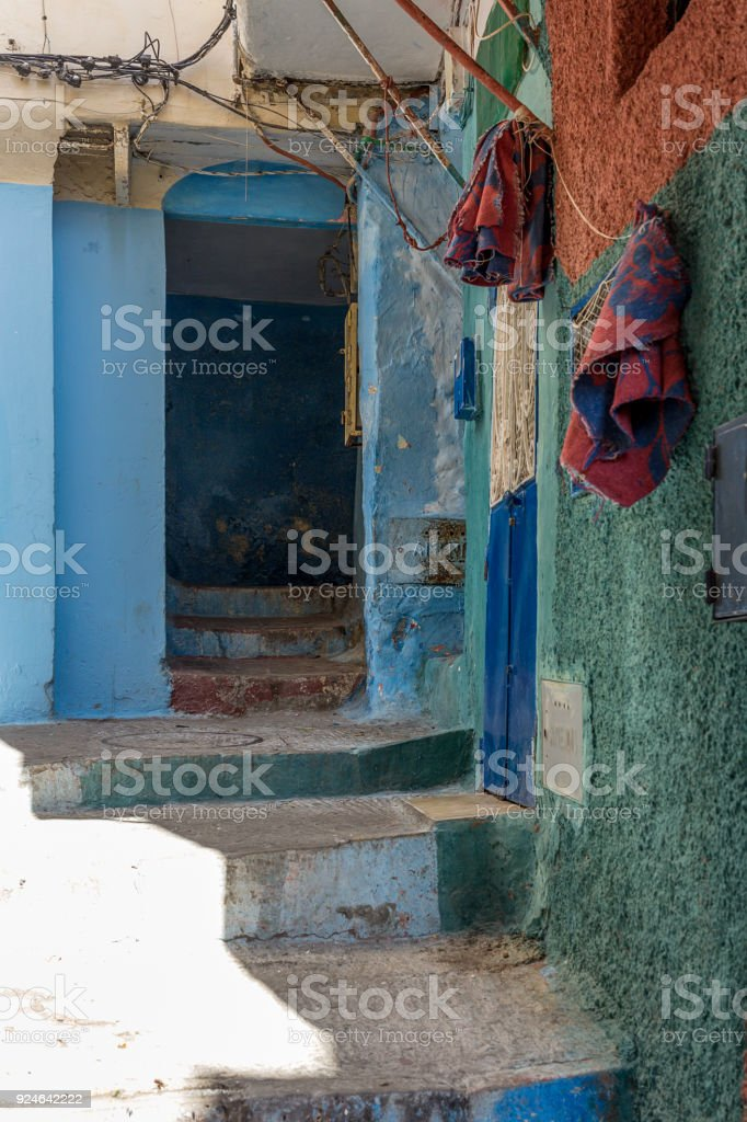 Streets, corners, details and corners of Tanger stock photo