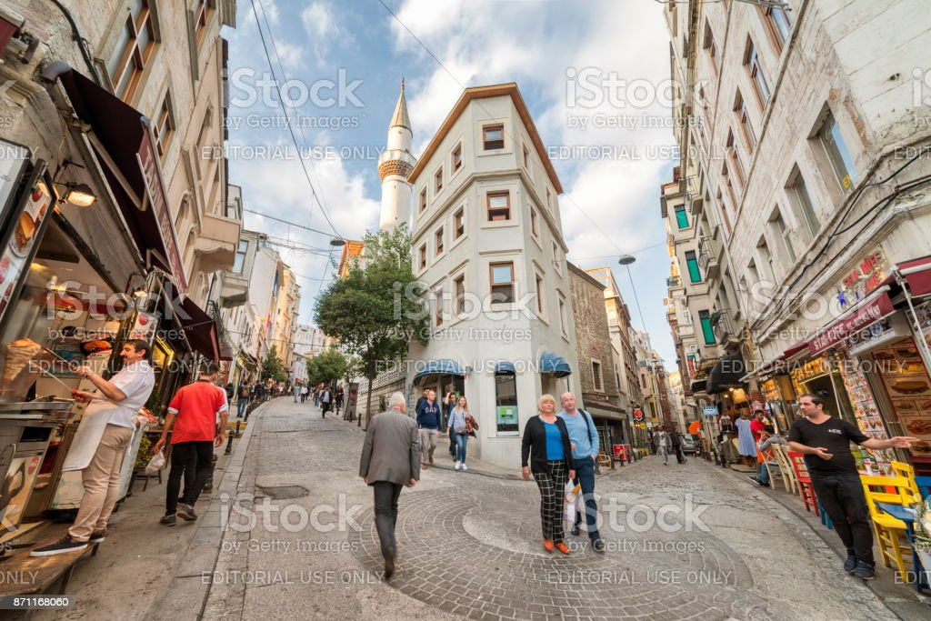 Streets From Galata District, Istanbul, Turkey stock photo