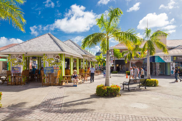 Streets in Basseterre St. Kits and Nevis stock photo