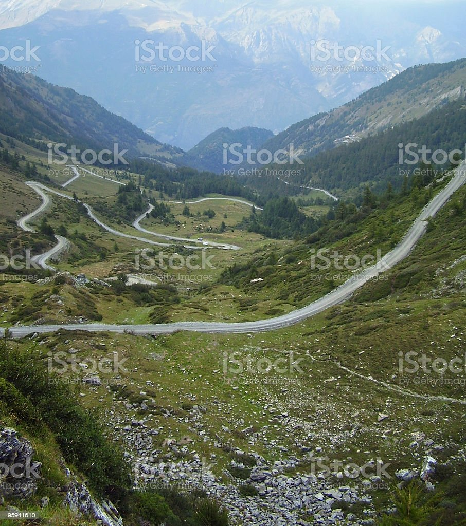 streets in the French Alps royalty-free stock photo