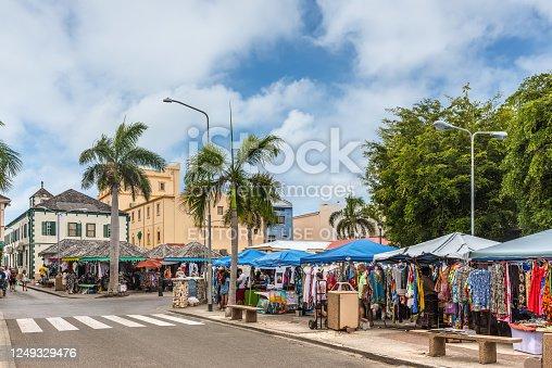 istock Streets Markets in Philipsburg, St. Maarten 1249329476
