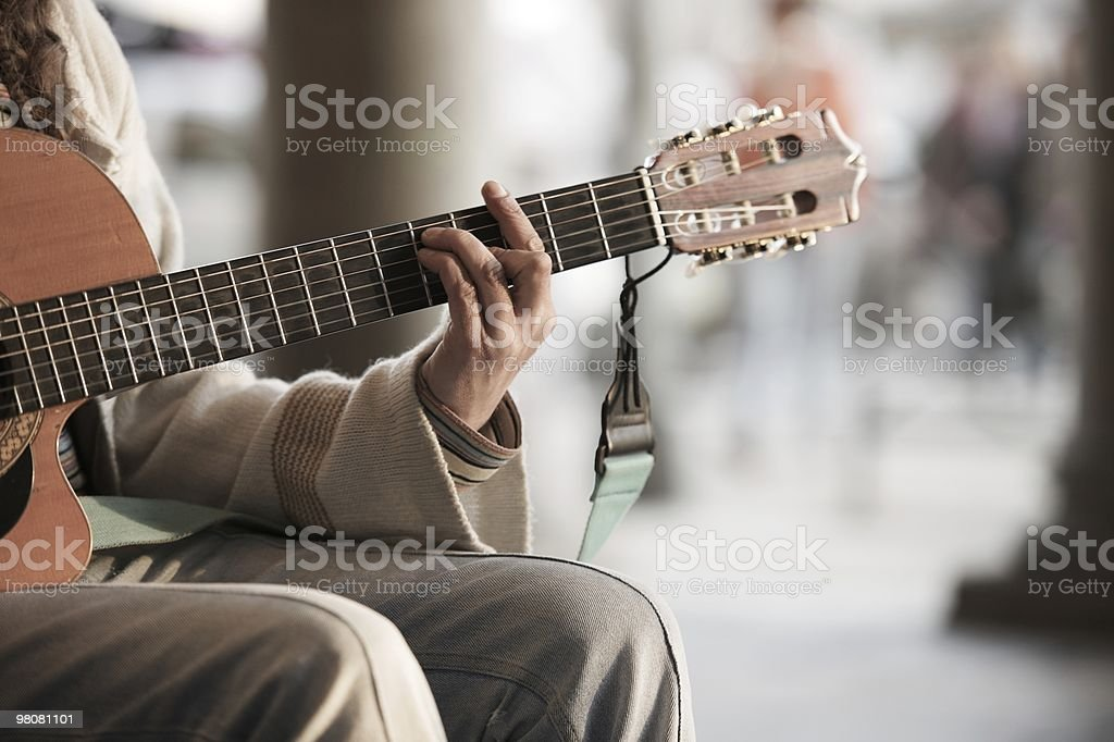 Street's musician royalty-free stock photo