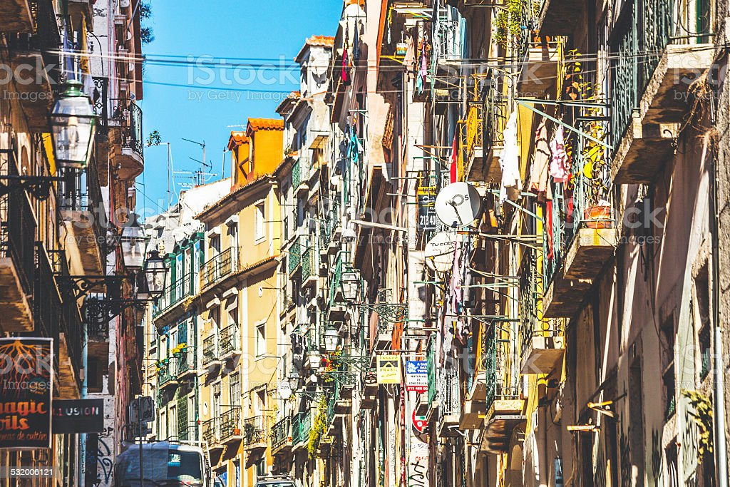 Streets of Bairro Alto. stock photo