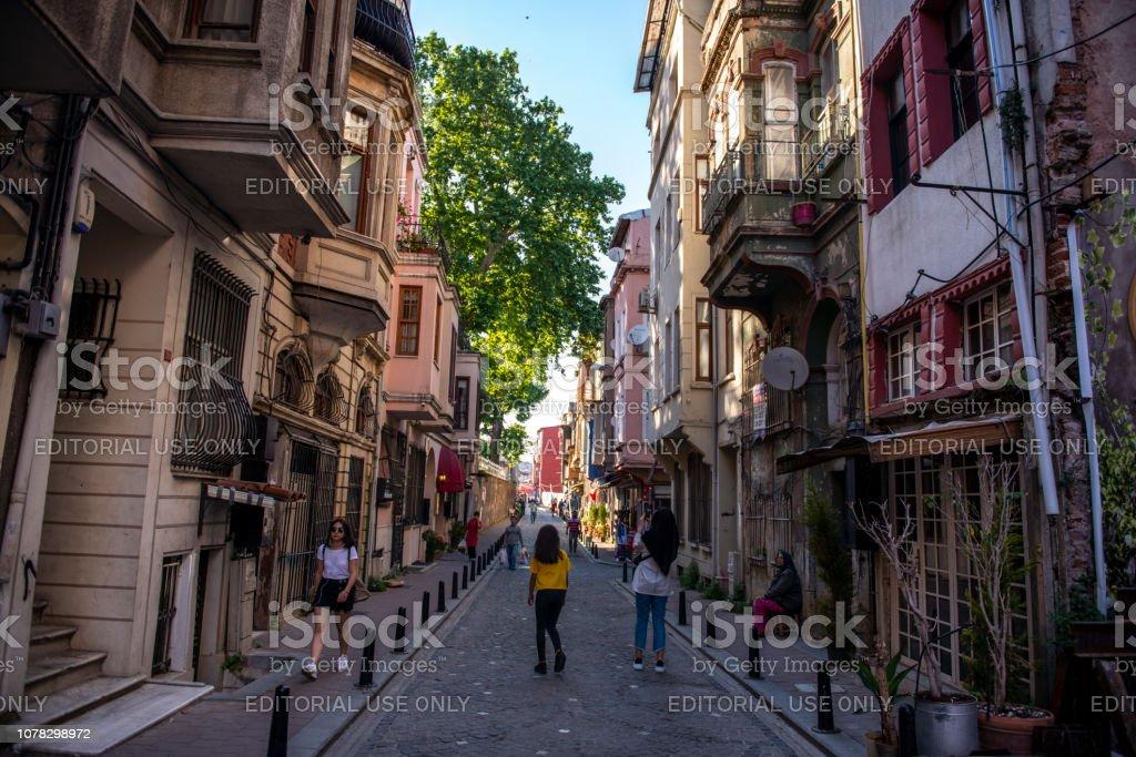 Balat sokakları stok fotoğrafı