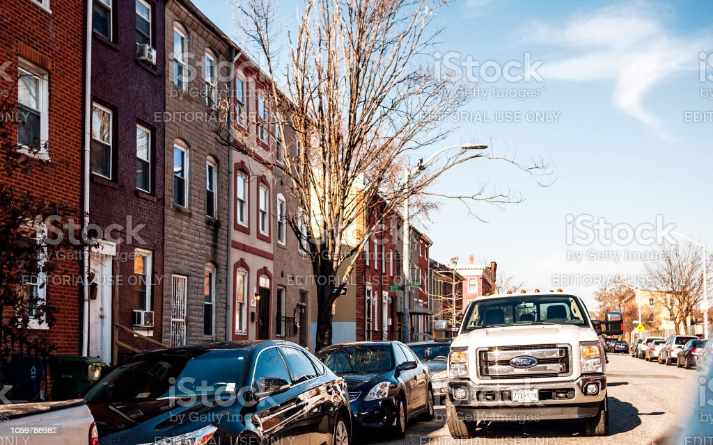 Streets of Baltimore, MD stock photo