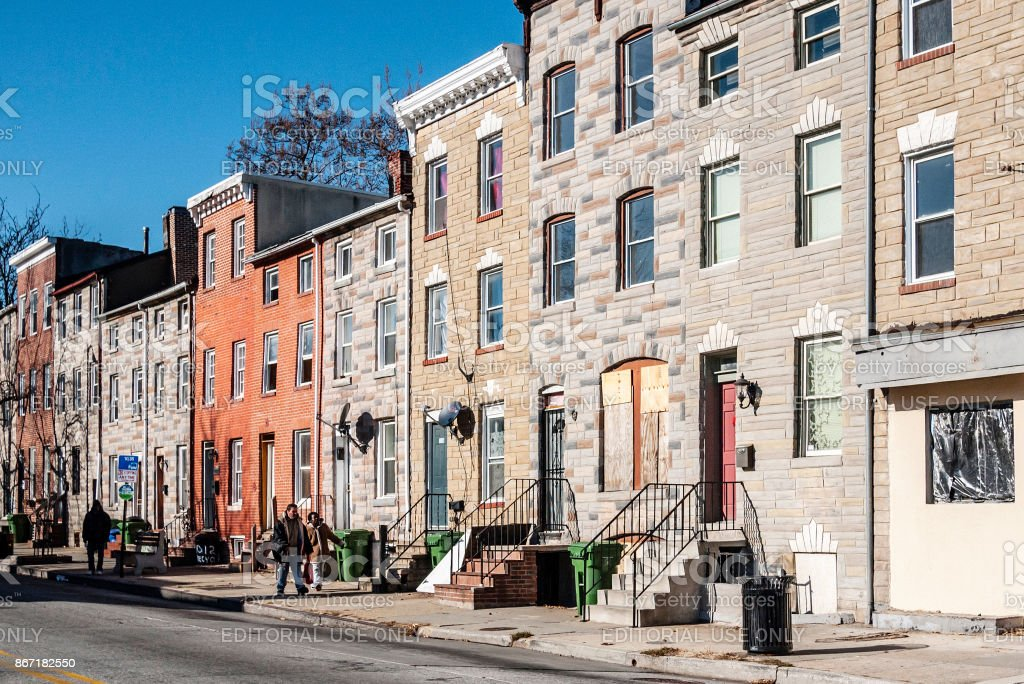 Streets Of Baltimore Md Stock Photo & More Pictures of American ...