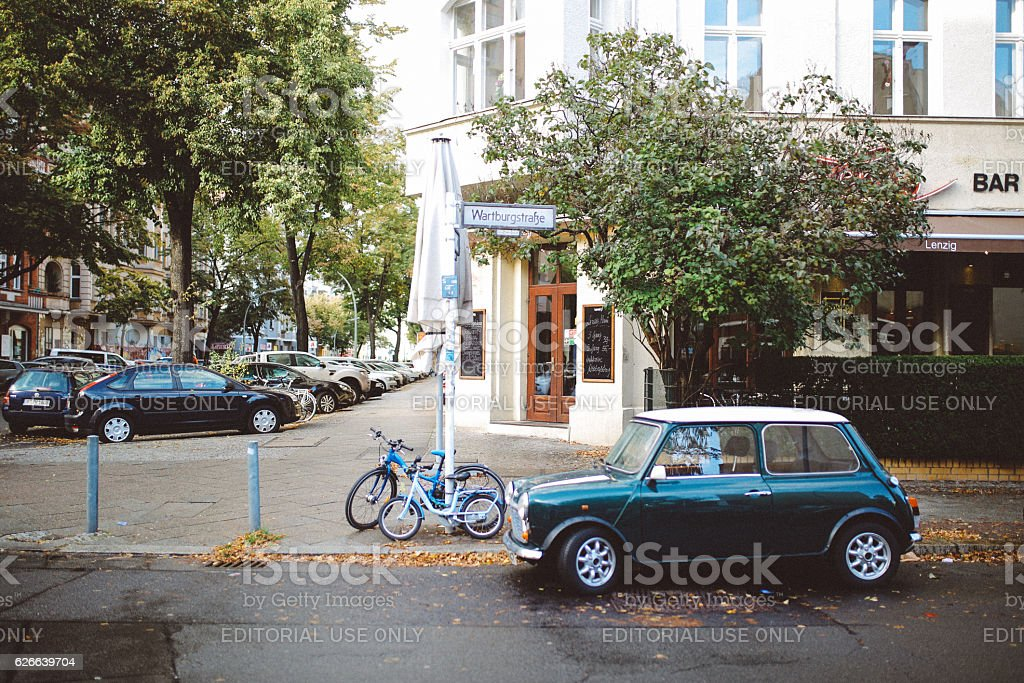 Streets of Berlin stock photo