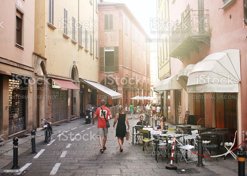 Streets of Bologna, Italy royalty-free stock photo