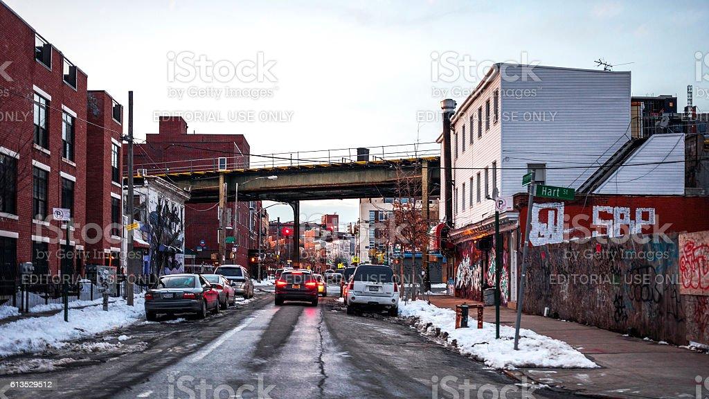 Streets of Bushwick, Brooklyn, NY. stock photo