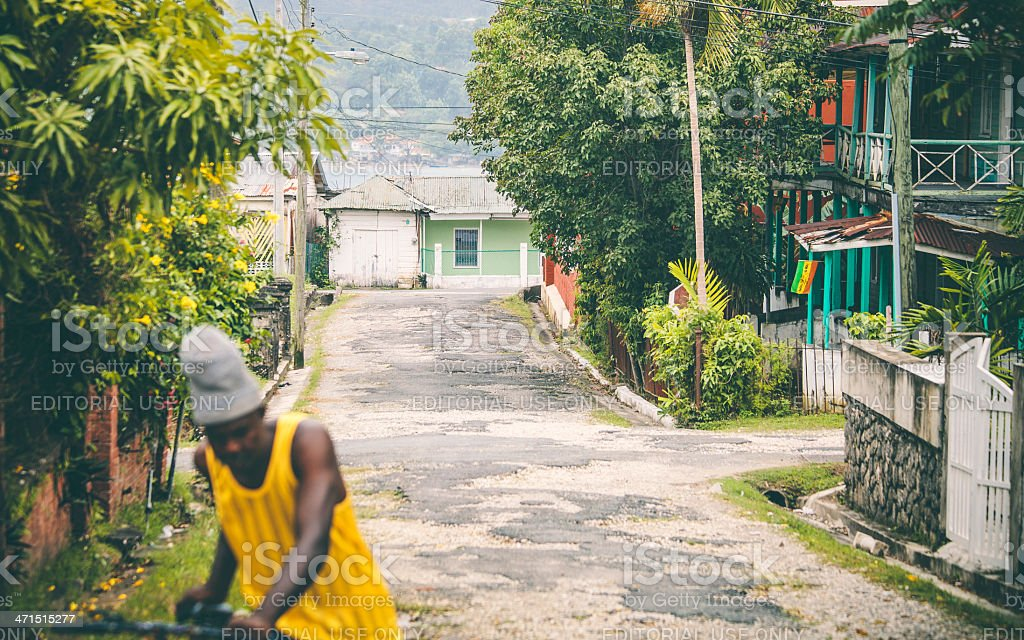 Streets of caribbean town. royalty-free stock photo