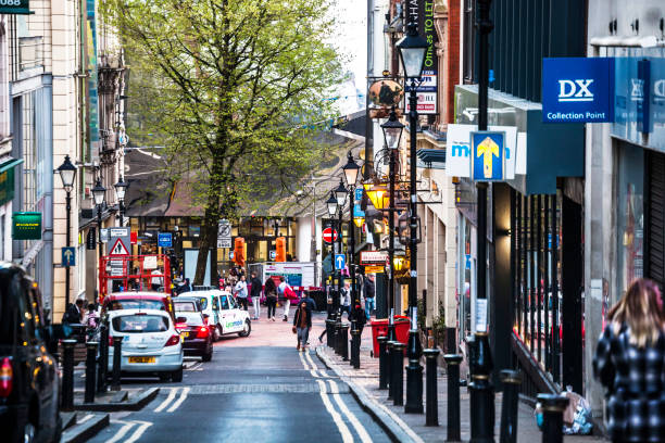 Streets of city centre - Birmingham, UK stock photo