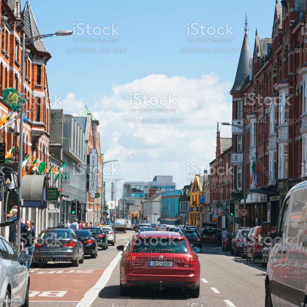 Streets of Cork, Ireland stock photo