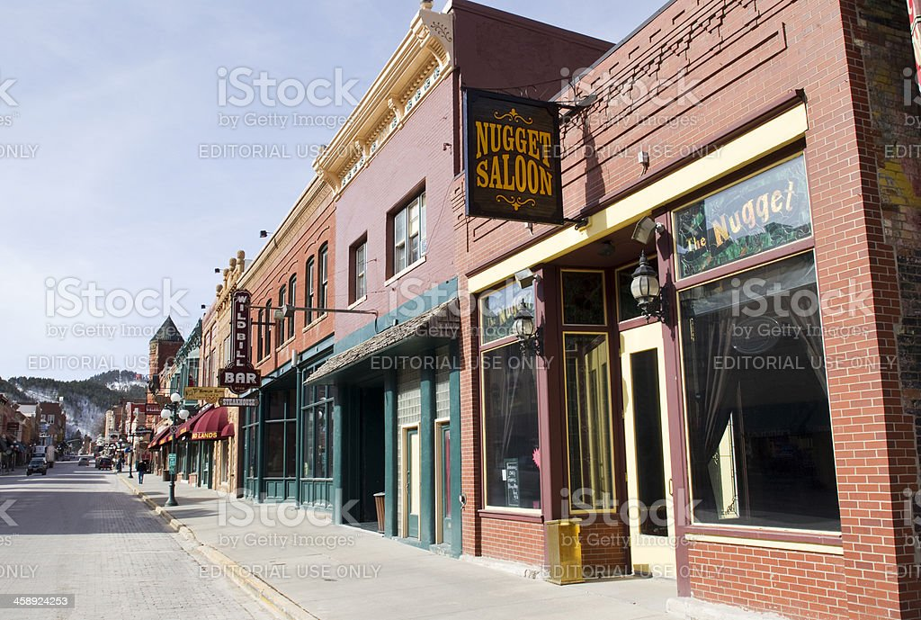 Streets of Deadwood, South Dakota stock photo