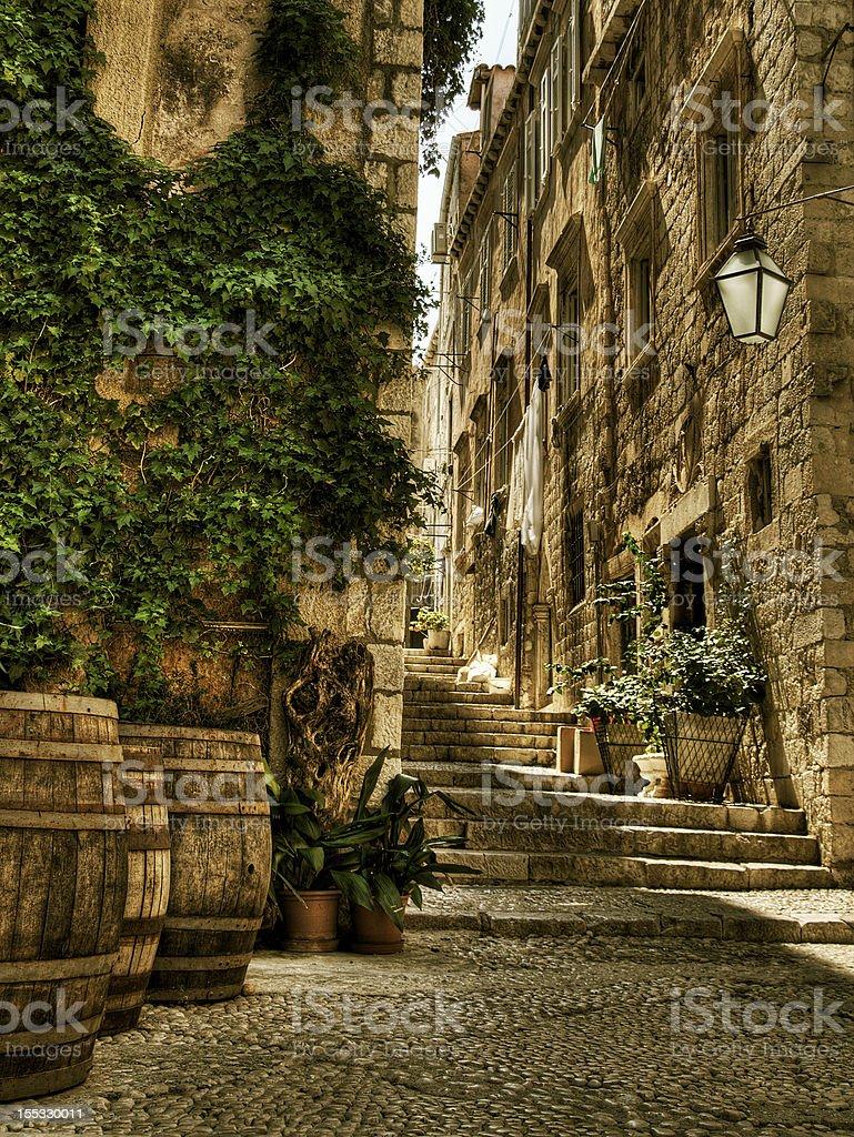Streets of Dubrovnik. stock photo