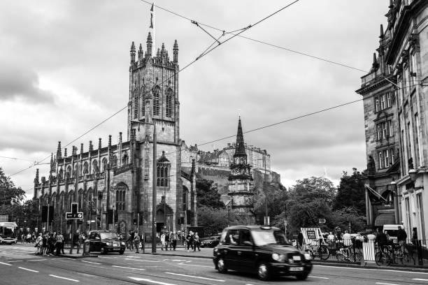 Calles de Edimburgo - foto de stock