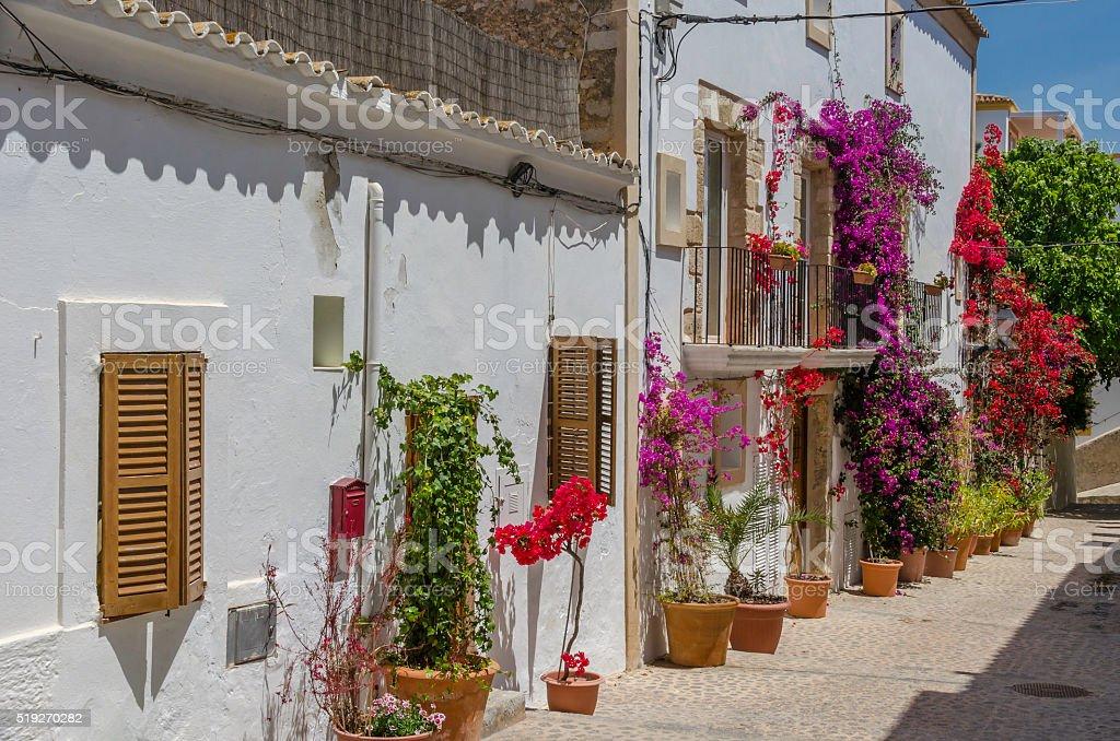 Streets of Elvissa, Ibiza royalty-free stock photo