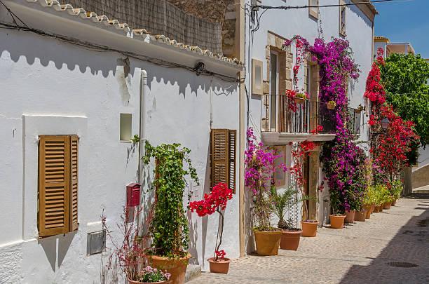 Streets of Elvissa, Ibiza stock photo