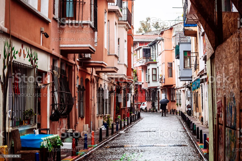Streets of Fener district - Istanbul, Turkey stock photo