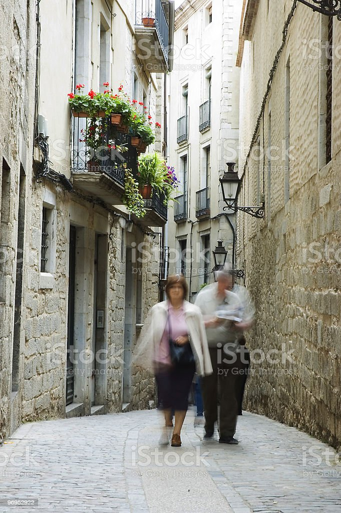 Streets of Girona, Spain royalty-free stock photo