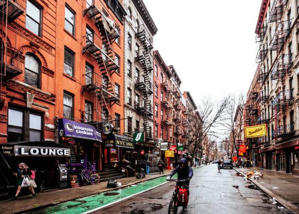 Streets of Greenwich Village - Manhattan, New York City stock photo