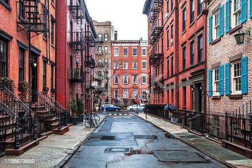 Gay St in Greenwich Village, Manhattan, New York, NY, USA