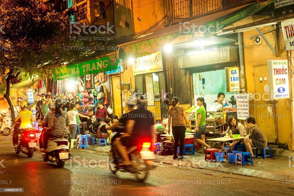 Streets of Hanoi, Vietnam royalty-free stock photo