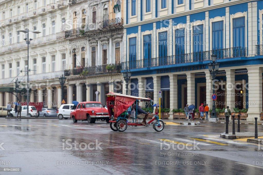 Rues de la Havane, un jour il pleuvait, cuba photo libre de droits