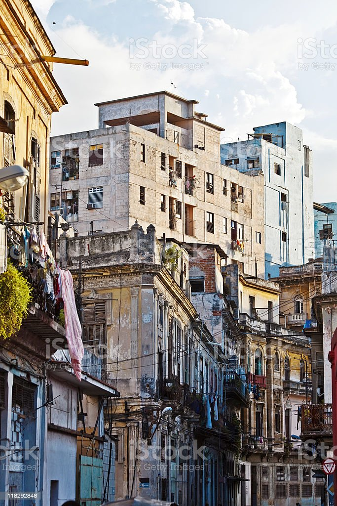 streets of havana royalty-free stock photo