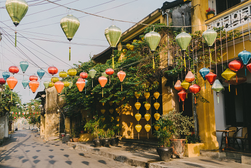 Streets of Hoi An at  morning