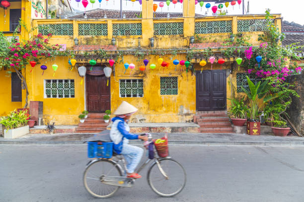 Streets of Hoi An stock photo