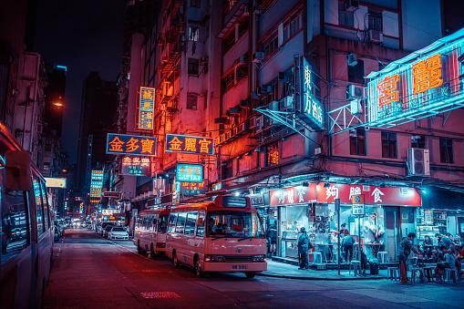 streets of Hongkong at night