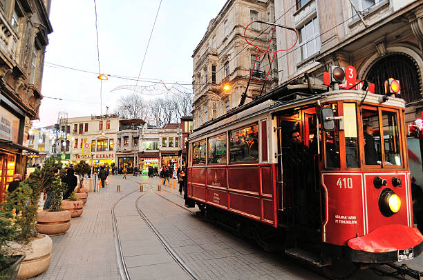 streets of istanbul - istiklal avenue bildbanksfoton och bilder